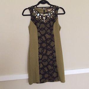 Embellished Collar Shift Dress